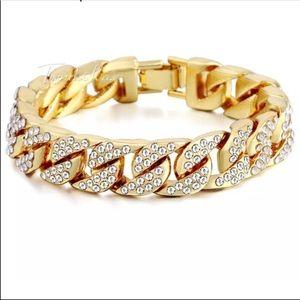 Other - New unisex men women gold filled bracelet bling2x